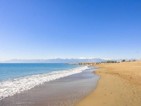 Beach in Lara near Antalya in Turkey.